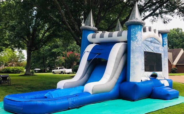 Snowflakes Frozen Waterslide moonwak rental